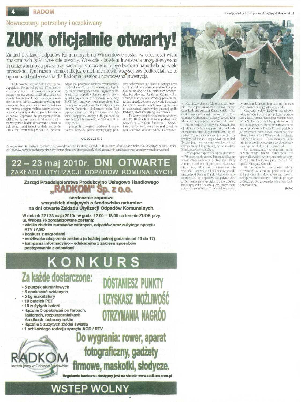 2010.05.20 Tygodnik Radomski ZUOK oficjalnie otwarty!
